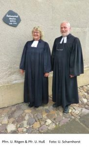 Foto Frau Ritgen und Herr Huß